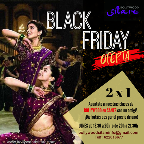 Clases de Bollywood en Barcelona. OFERTA Black Friday