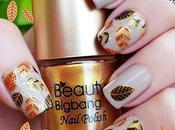 Hojas doradas esmalte especial para estampar Beauty BigBang