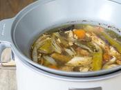 Caldo pollo asado olla cocción lenta, Crockpot
