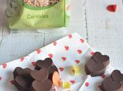 Piruletas crujientes chocolate negro avena hinchada azúcar