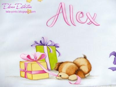 Sabana de cuna para Alex