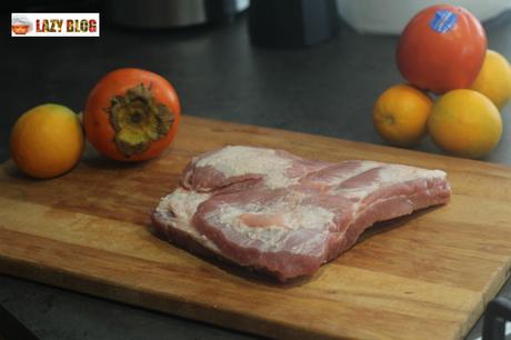 Costillas al horno con salsa de kaki Persimon
