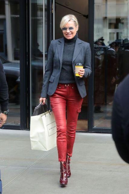 leather pants americana
