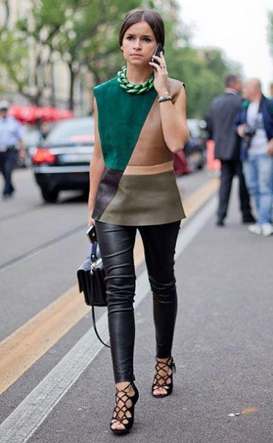 leather pants Miroslava Duma