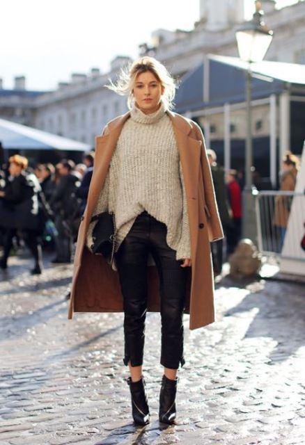 leather pants lana abrigo camel