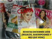 Revistas Diciembre 2018 (Regalos, suscripciones viene)