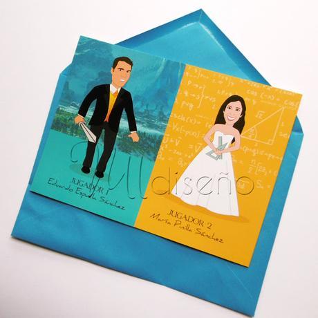 Invitaciones de boda frikis