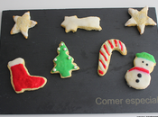 Galletas Navidad lactosa decoradas glasa
