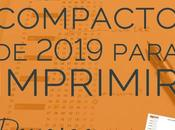 Descarga gratis calendario compacto 2019 para imprimir
