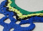 Collar ganchillo estilo babero tipo encaje (Necklace with style lace look)