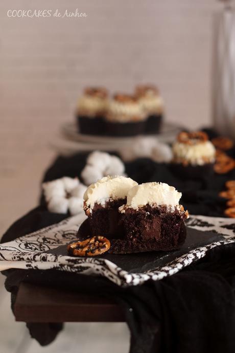 Guinness Cupcakes. Reto #CupcakesRevival. Cookcakes de Ainhoa