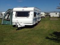 Hobby Caravan Fixed Bed Fridge Zer 5 Birth Good