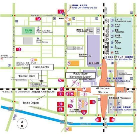 Map Of Akihabara For A Larger Image