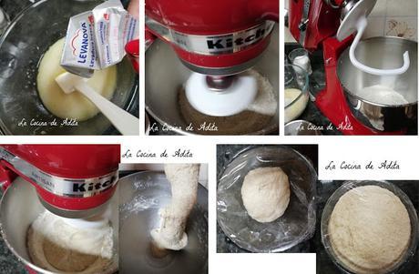 Pan de harina integral y de espelta, con KitchenAid