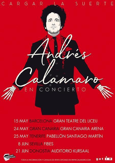 Primeros conciertos de Calamaro presentando nuevo disco en España en 2019