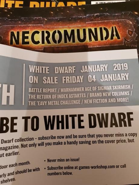 AoS Skirmish e Index Astartes vuelven en la White Dwarf de enero