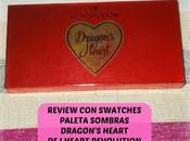 Review Swatches Paleta sombras Dragon's Heart Revolution