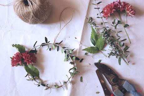 DIY: corona natural para Navidad