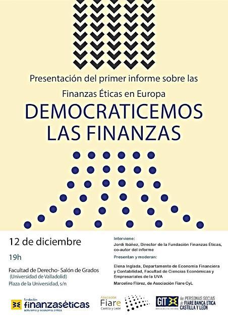 Las finanzas éticas: situación a nivel europeo.