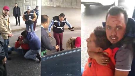 Separan de su cargo a inspectores de la SCT que golpearon a conductor