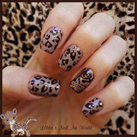 Manicura Animal print leopardo