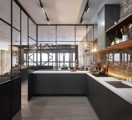 proteger el ladrillo en la cocina