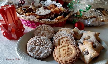 Galletas de mantequilla para felicitar la Navidad