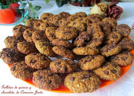 Galletas de quinoa y chocolate de Comercio Justo