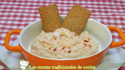 Receta fácil y rápida de Paté de langostinos ideal para aperitivo