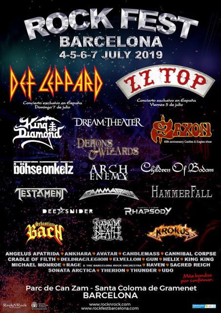 Rock Fest Barcelona 2019: Saxon, Sebastian Bach, Gamma Ray, Cannibal Corpse, Gun...