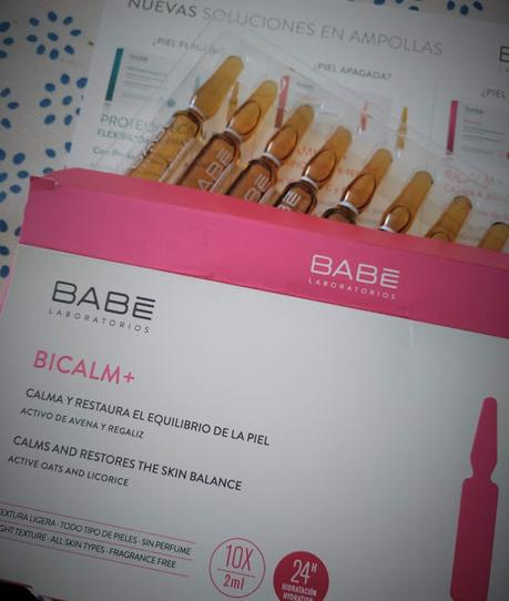 Ampollas de Babe Laboratorios.