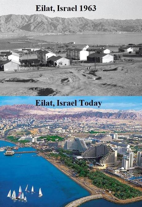 Eilat, antes y después.