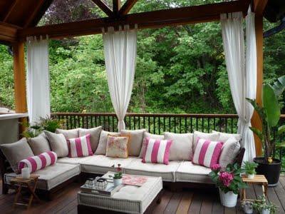Terrazas y jardines con un punto rosa paperblog for Terrazas de jardin