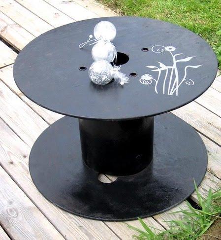 Para el exterior sillones de palets y mesas de bobina de for Sillones exterior diseno