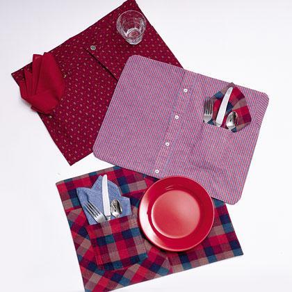 Manteles individuales hechos con camisas paperblog - Manteles originales ...