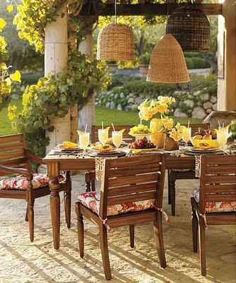 Decoraci N Comedor Exterior Muebles Para Salir A Cenar - Comedores ...