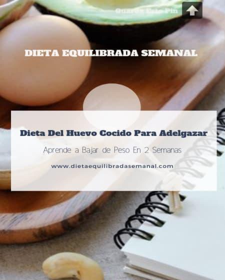 La dieta del huevo cocido para adelgazar