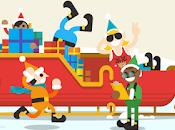 Jugá aldea interactiva Papá Noel