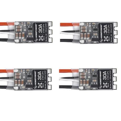 4 Pcs Hobbywing Xrotor Micro 30a Blheli 32 2 5s Dshot1200 Brushless Esc For Rc Drone