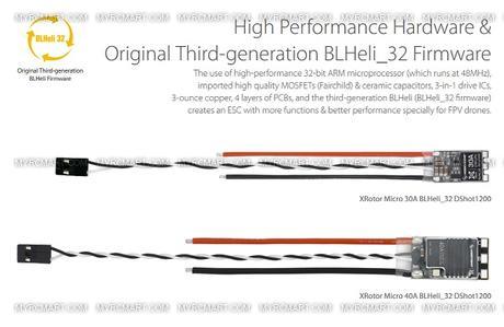 Hbw Xrotor 30901015 Hobbywing Micro 40a Blheli 32 Dshot1200 Multirotor Brushless Esc 3 6s Review Usd17 99 Myrcmart