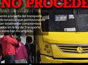 Gobierno Carreras prepara aumento tarifas transporte urbano