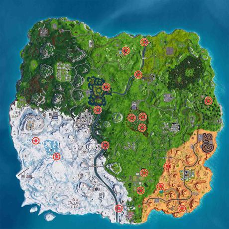 Nidos De Gansos Fortnite Mapa Actualizado