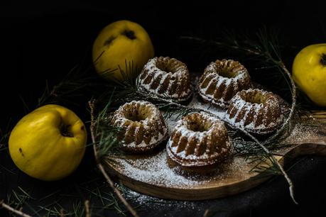Mini Bundt Cakes de Membrillo