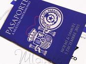 Invitación boda pasaporte tarjeta embarque