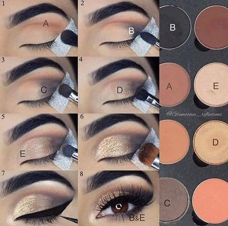 10+ combinaciones de tonos de maquillajes de ojos