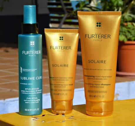 Cabello perfecto después del cloro, la sal y el sol. Gama Solaire y Sublime Curl  de Rene Furterer