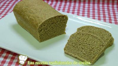 Receta fácil de pan de espinacas integral casero y saludable