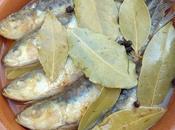 Lachas (alosas) fritas escabeche