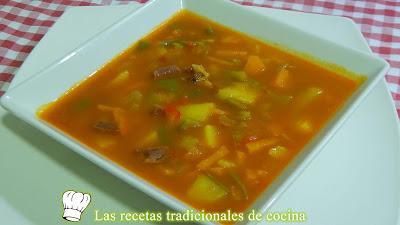 Receta fácil de sopa campera de verduras