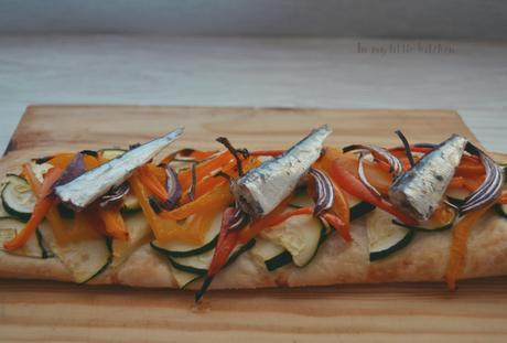 CocinArte- Coca de verduras y sardinas inspirada en Gaudí